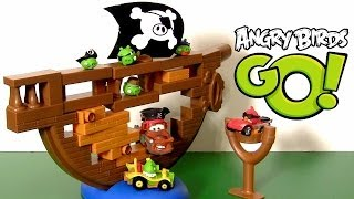 Cars Pirate Mater Angry Birds Go! Jenga Pirate Pig Attack Game Playset Disney Pixar Toys Review