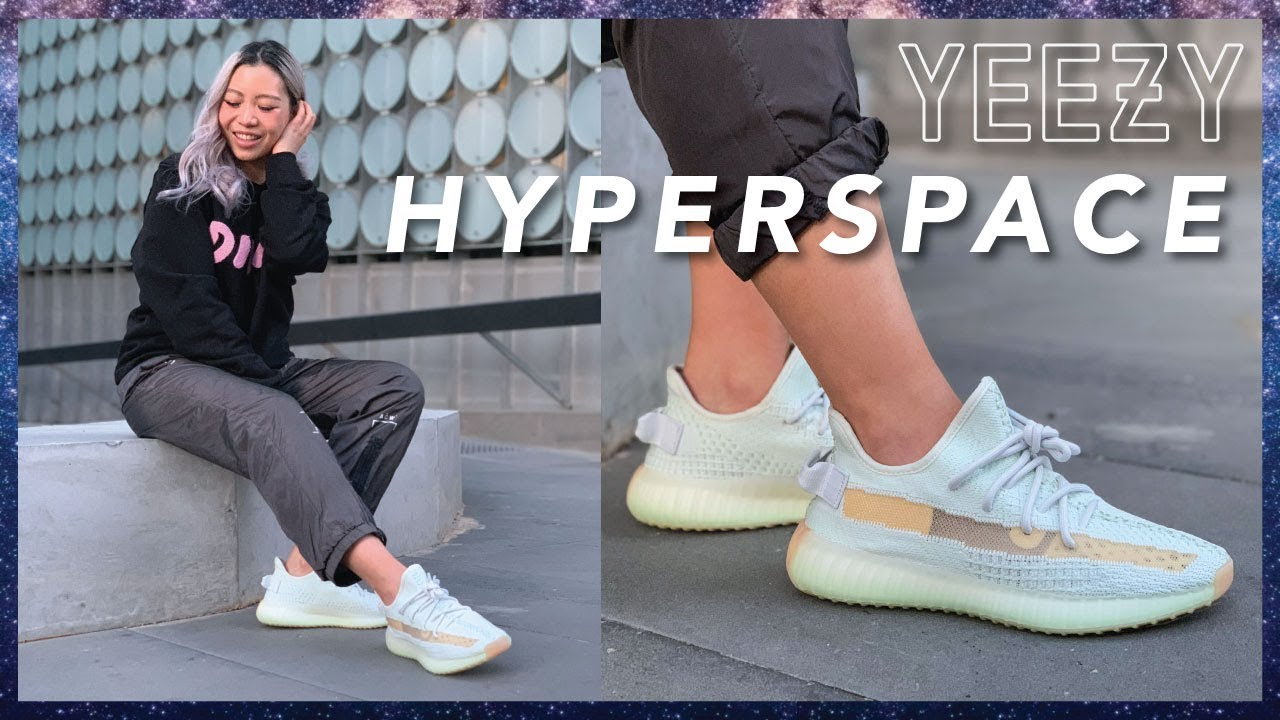 YEEZY 350 V2 HYPERSPACE | Review + On Feet - YouTube