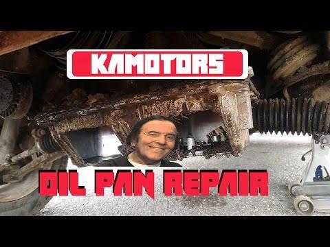 BMW 318i M42 cracked oil pan repair