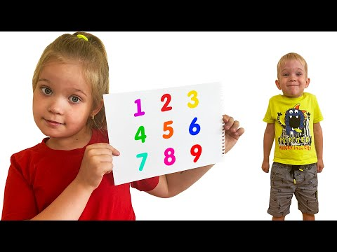 Лера и мама учат  малыша считать