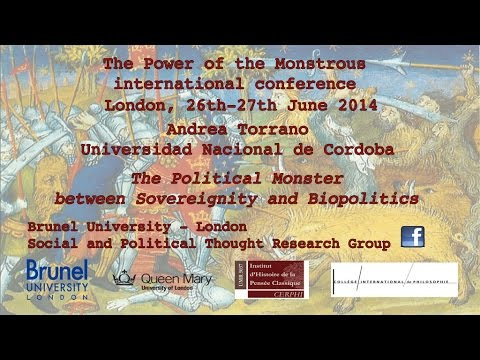 Andrea Torrano, The Political Monster between Sovereignity and Biopolitics