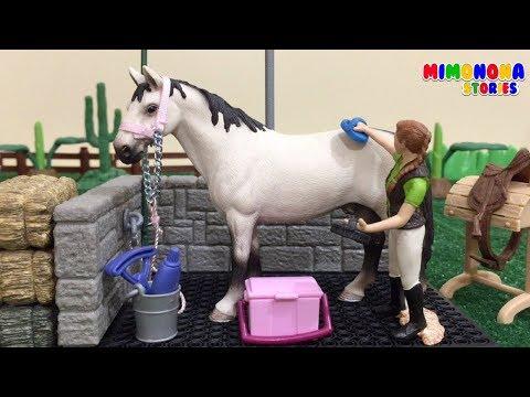 Caballos para niños 🐴🐴 Animales dela Granja ✨ Videos infantiles - Mimonona Stories