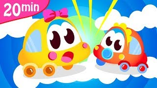 I'm a Baby Car Beep Beep | Car Family | Police Car Chase | FireTrucks | Kids Songs by Little Angel