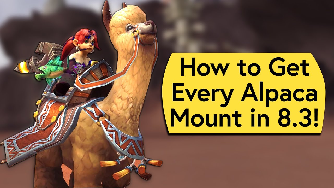 Alpaca Mount Guide How To Get Every 8 3 Alpaca Mount In Wow Youtube