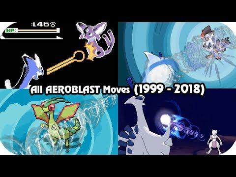 Evolution of Pokémon Moves - AEROBLAST (1999 - 2018)
