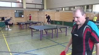 Brandl vs Herget Heilsbronn 20190602 Bavarian Race TT Cup Table Tennis Stativ  5