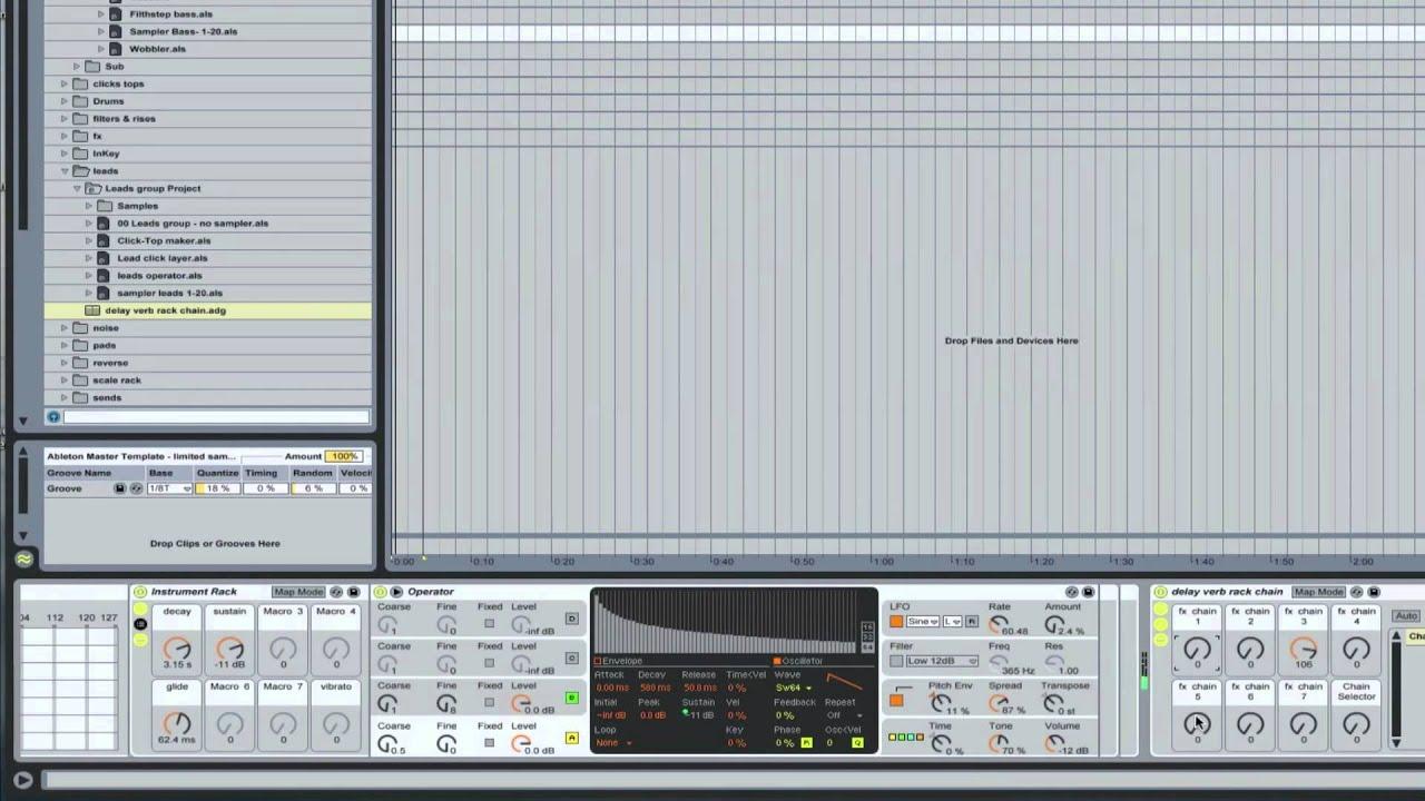Ableton Master Template - Lead synth Racks | Ableton Tutorial ...