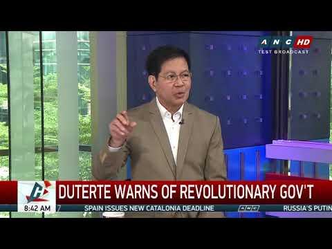Revolutionary gov't? Duterte can't, won't do it - Lacson