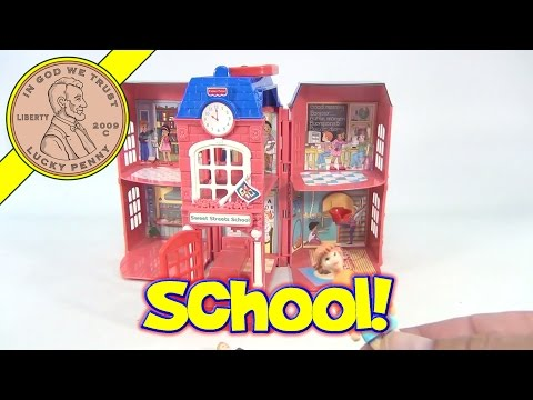 Fisher-Price Sweet Streets School House With Two Figures