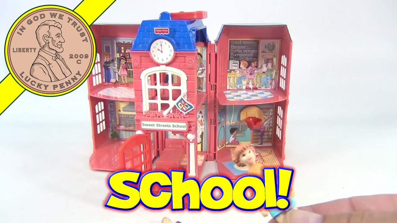 Fisher Price Sweet Streets School House With Two Figures