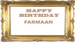 Farmaan   Birthday Postcards & Postales - Happy Birthday