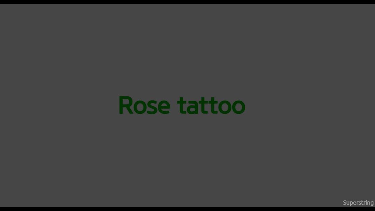 Dropkick Murphys Rose Tattoo Lyric Video Youtube