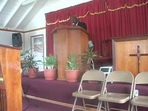 Pastor Jerry Languedoc, Brownhill SDA Church, Nevis. 507.AVI