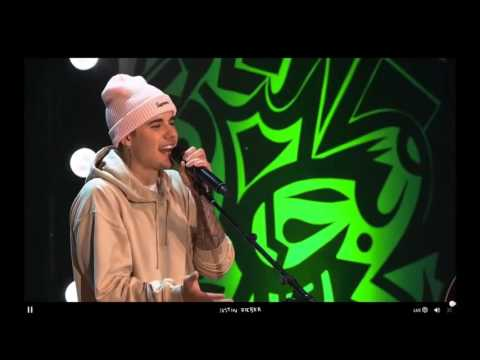 "Justin Bieber performing ''Trust"" Live at #PurposeInto - 07/12/2015"