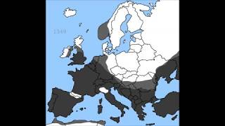 Map of Black Death in Europe