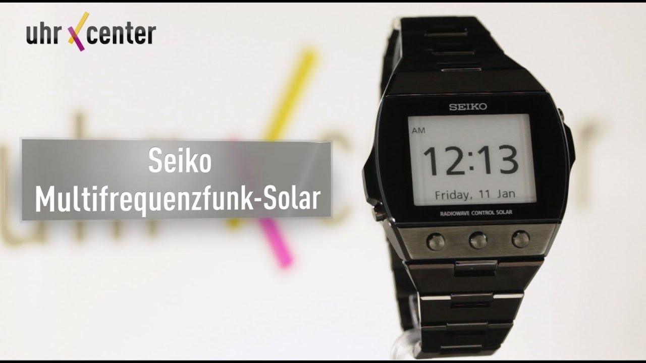 Seiko epd funk solar digital herren armbanduhr sdga003