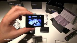Lcd touch bacpac unboxing de Gopro para hero3, white, silver y black edition. En castellano.