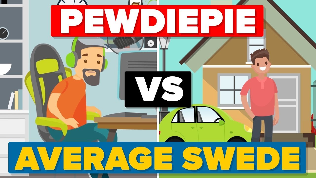 Pewdiepie vs The Average Swede - People / Celebrity Comparison