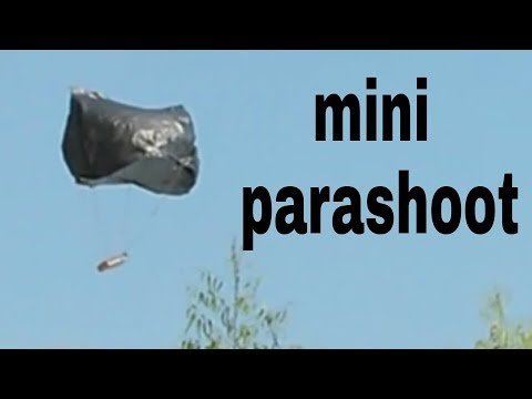 how to make a small parachute at home