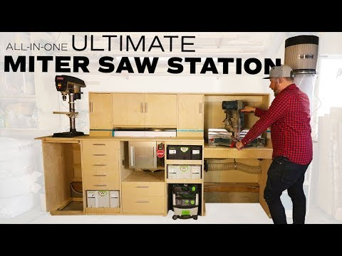 Miter Saw Station // Flip top Workbench // Router table (2019)