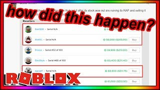 roblox gave out 10 MILLION ROBUX worth of limiteds BY ACCIDENT...