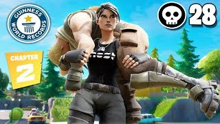 28 Kill FORTNITE 2 SOLO SQUAD WORLD RECORD Controller On Pc Fortnite Chapter 2Season 11