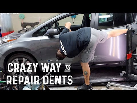 smash-door-dent-repair-|-nissan-leaf-ev-|-dave-oh-is-back