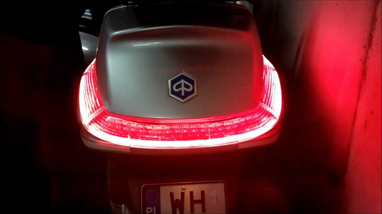 piaggio x8 led rear lights youtube. Black Bedroom Furniture Sets. Home Design Ideas