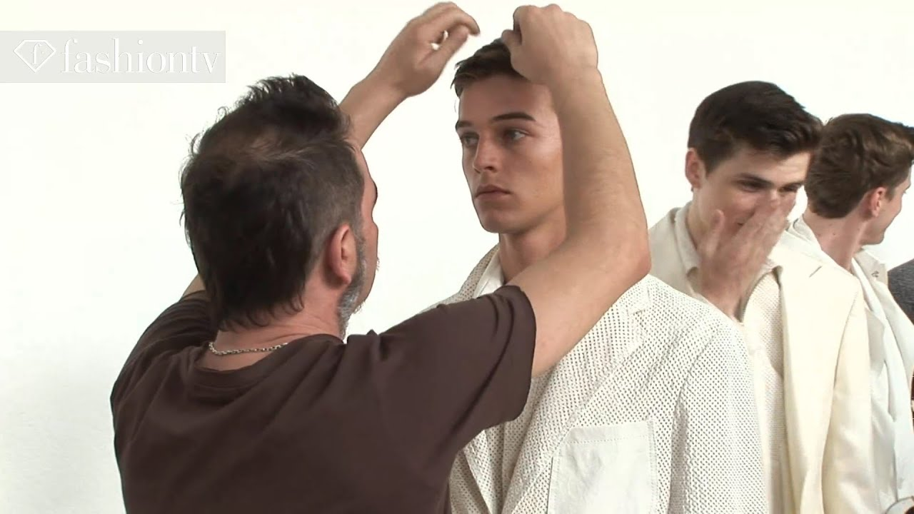 Male Models Backstage at Corneliani Spring/Summer 2013 | Milan Men's ...