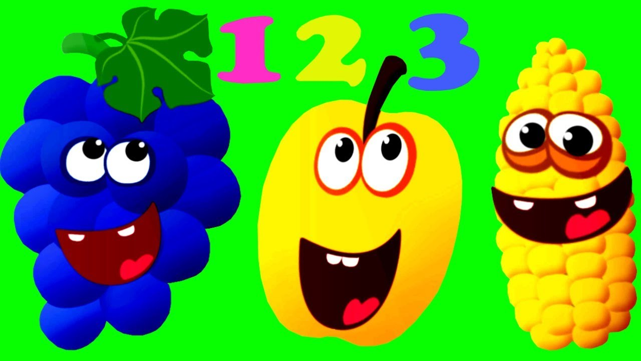 Learn Numbers 123 - Funny Food Kids Games Learning Video - YouTube