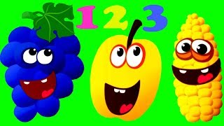 Learn Numbers 123 - Funny Food Kids Games Learning Video