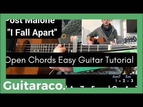I Fall Apart - Post Malone // EASY Guitar Tutorial (Open Chords)