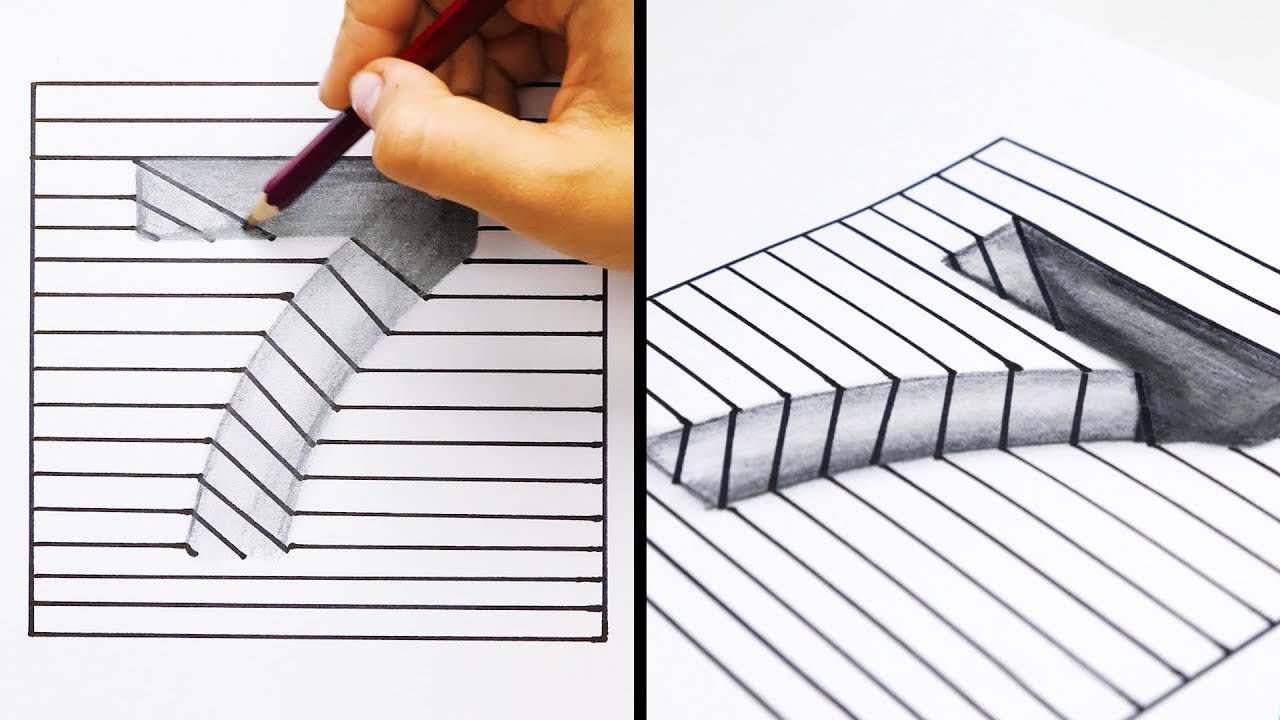 20 Easy And Cool Drawing Tricks Youtube