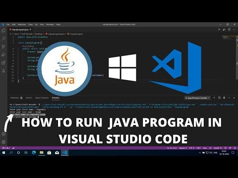 How to Run JAVA in Visual Studio Code on Windows 10 2021