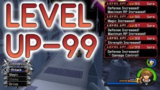 Best way to level up to 99 in Kingdom hearts 2 (kh2fm)