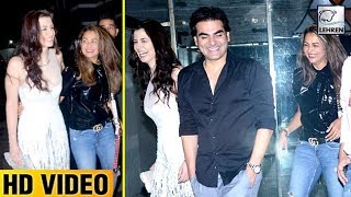 Arbaaz Khan PARTIES With Girlfriend Georgia Andriani And Ex-Sister-In-Law Amrita Arora!   LehrenTV