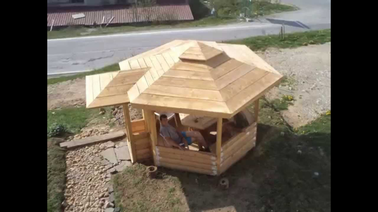 izrada letnjikovca od drveta nemanja zekic youtube. Black Bedroom Furniture Sets. Home Design Ideas