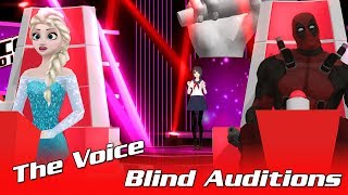 The Voice Funny - Yandere Chan, Miku, Boruto, Frisk, Goku Blind Auditions