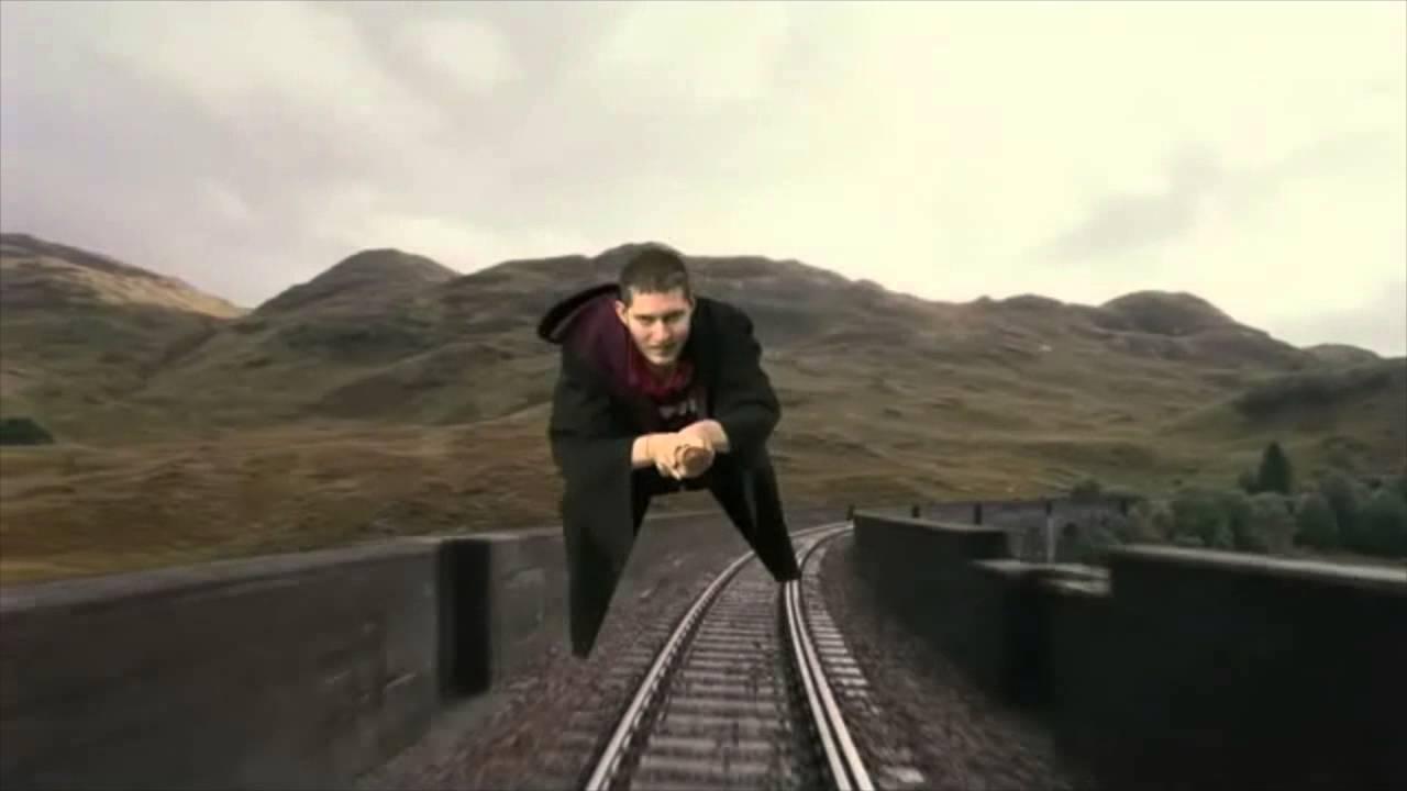 Harry Potter Studios Tour - Riding a Broomstick
