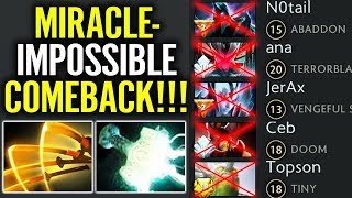 EPIC $H!T!!! - Miracle vs 5 STAR Impossible COMEBACK Juggernaut Pro Dota 2