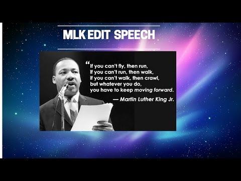 MLK *RARE SPEECH*