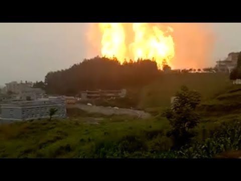 Two injured as gas pipeline explodes in SW China village