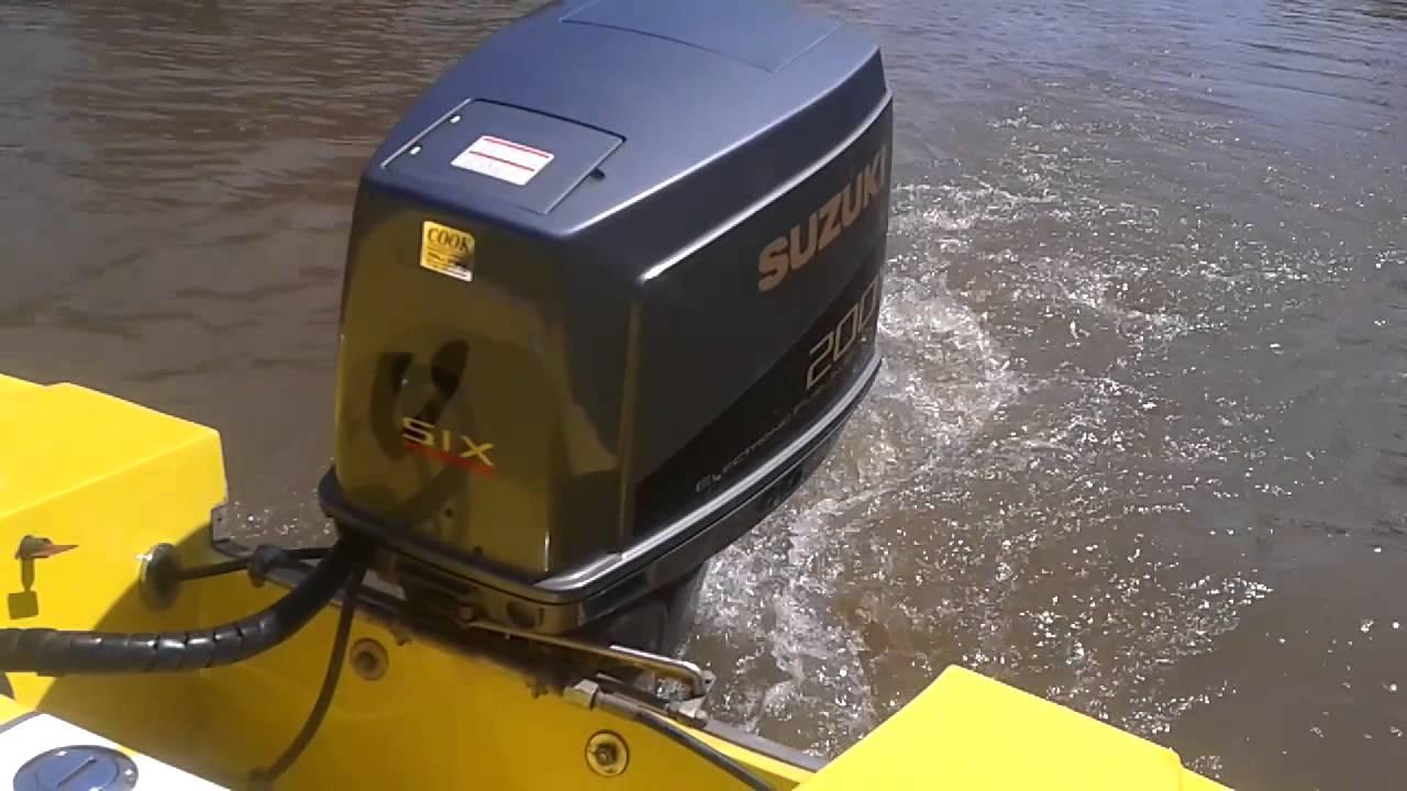 suzuki 200 hp v6 - YouTube