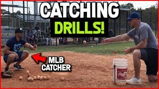 3 SIMPLE FRAMING DRILLS FOR CATCHERS...that even MLB catchers do!  [Baseball Catching Drills]