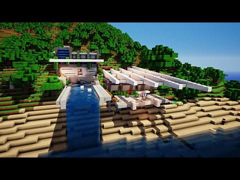 Minecraft maison moderne sur falaise de ep1canthony youtube - Maison modern minecraft ...