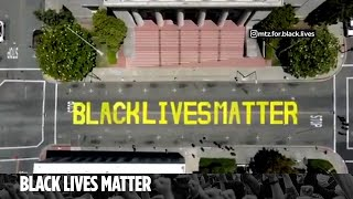 Man Confronts Suspects Caught On Camera Defacing Black Lives Matter Mural In California