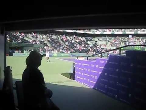 David Ferrer vs Kei Nishikori inside tunnel view ATP 1000 Miami 2013 Sony Open Jblazed.com Mar26