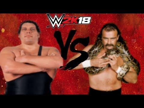 WWE 2K18 Andre The Giant vs Jake Roberts