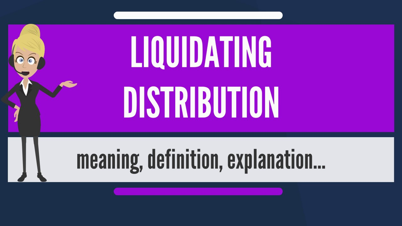 Non liquidating distribution definition