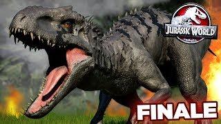 BLACK INDOMINUS RAMPAGE!!! - Jurassic World Evolution - JURASSIC MODE   FINALE HD